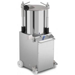 Insaccatrice idraulica verticale in acciaio 22 lt