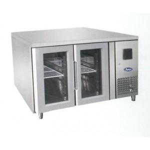 Tavolo frigorifero TN per teglie 1/1 GN 2 porte vetro