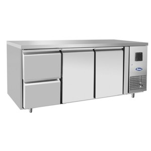 Tavolo frigorifero TN 2 porte 1/1 GN + cassetiera 1/2