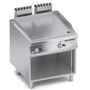 Fry Top a Gas Liscio in Acciaio Dolce con Paraspruzzi + Vano Aperto K4GFLS10VV