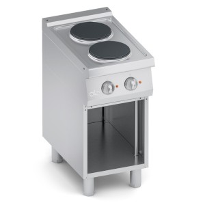 Cucina Elettrica 2 Piastre Tonde Top + Vano Aperto K7ECU05VV