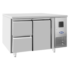 Tavolo frigorifero TN 1 porta 1/1 GN + cassetiera 1/2