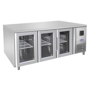 Tavolo frigorifero TN per teglie 1/1 GN 3 porte vetro