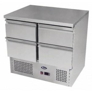 Banco refrigerato compatto con 4 cassetti 1/1 GN