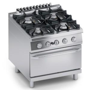 Cucina Gas 4 fuochi Top + Forno a Gas 2/1 GN K4GCUP10FF