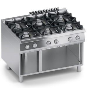 Cucina Gas 6 fuochi Top + Vano Aperto K4GCUP15VV