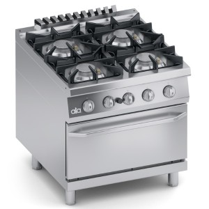 Cucina Gas 4 fuochi Top + Forno a Gas 2/1 GN K4GCUS10FF
